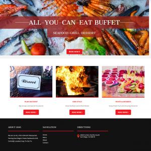 restaurant web design san diego
