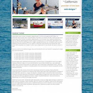 WordPress Marine Nautical Theme